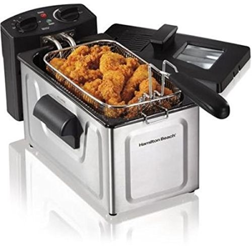 New-2 Liter Deep Fryer Stainless Steel Electric Basket Cooke