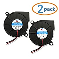 SoundOriginal 2pcs Cooling Blower Fan DC 12V 0.15A 50mmx15mm Fans for 3d Printer Humidifier Aromatherapy and Other Small Appliances Series Repair Replacement from SoundOriginal Factory