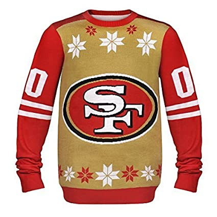 nfl football 2014 ugly christmas sweater jersey design pick team san francisco 49ers - Nfl On Christmas 2014