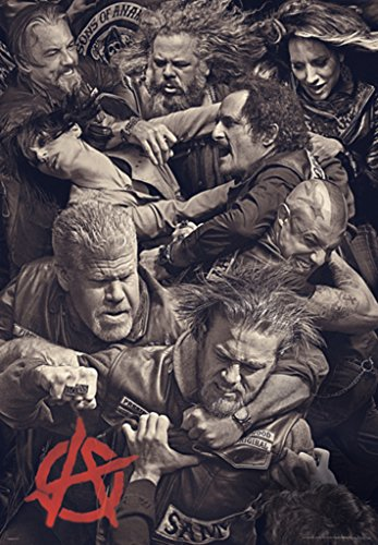 Pyramid America Sons of Anarchy Fighting Cool Wall Decor Art Print Poster 27x39 - Art Print Inch Poster 39