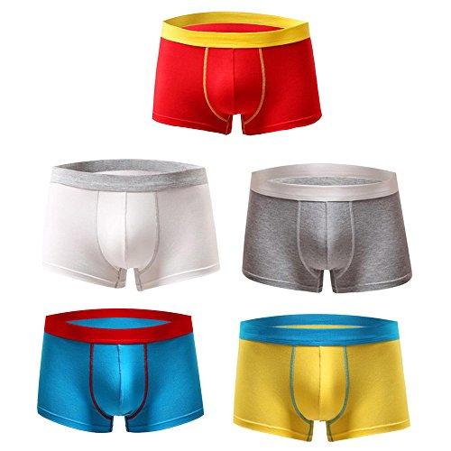 Astarin Mens Modal Colored Trunks Underwear Comfortable Boxer Briefs (Medium, 5 ()
