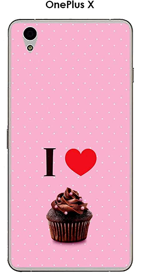 Carcasa OnePlus X Design I Love Cup Cake: Amazon.es: Electrónica