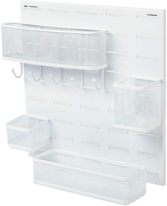 Grapas escritorio organizador Kit, para colgar de rejilla en color blanco: Amazon.es: Oficina y papelería