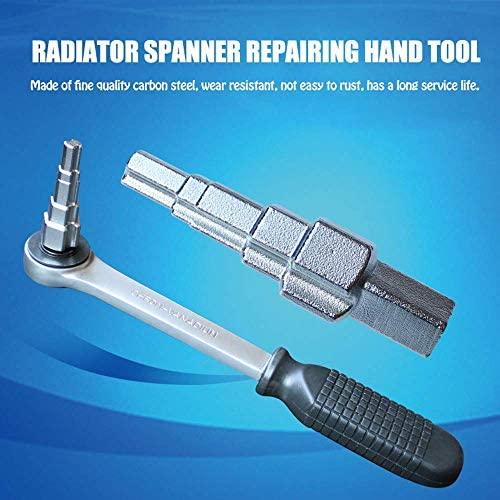 JINHUADAI Ratchet carbon steel radiator step wrench, radiator wrench repair hand tools for most radiator valves, connectors, cocks, water tank connectors