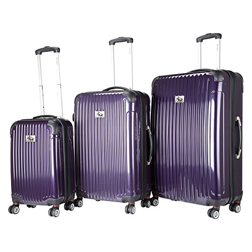 chariot-paola-3-piece-hardside-expandable-lightweight-spinner-purple