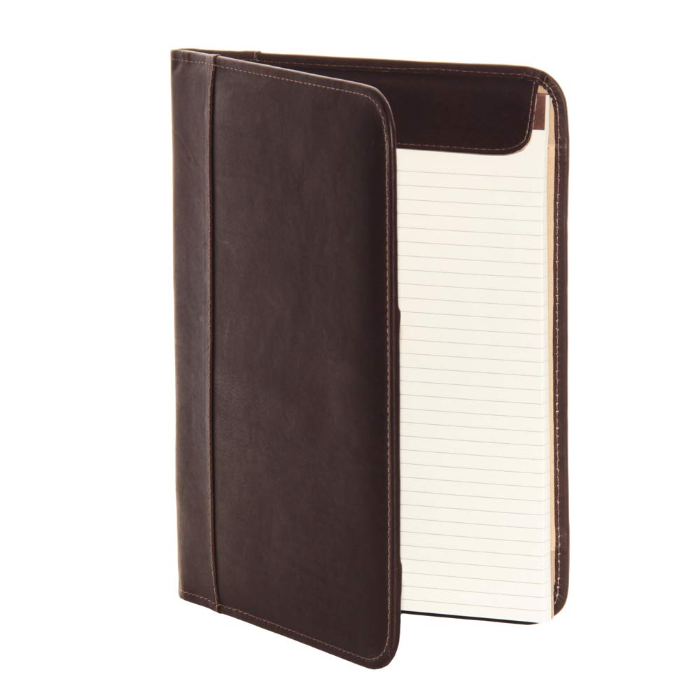 Piel Leather Letter-Size Padfolio, Black, One Size