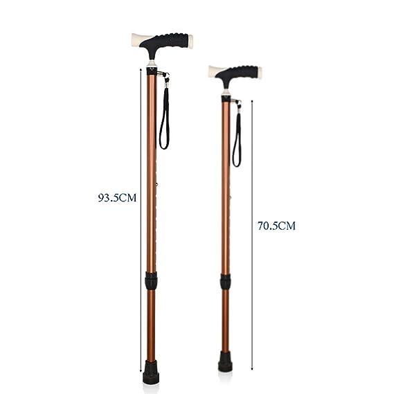 Bastones para Caminar Ancianos Bastón Ajustable: muletas ...