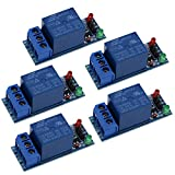 Relay Module,1-Channel DC 5V Relay Module Shield for Arduino 1280 2560 ARM PIC AVR DSP (5Pcs)