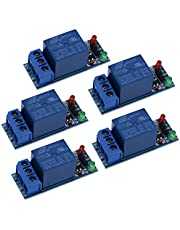 Relay Module,1-Channel DC 5V Relay Module Shield Suitable for Arduino 1280 2560 ARM PIC AVR DSP (5Pcs)