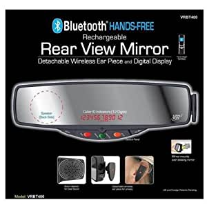 NEW VR3 BLUETOOTH HANDS FREE CELL PHONE CAR KIT MIRROR