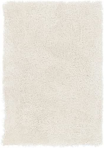 Surya Heaven HEA-8000 Shag Hand Woven 100 Polyester White 2 x 3 Accent Rug