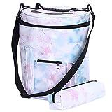 Knitting Yarn Storage Bag,Yarn Holder Case with Pockets Knitting Tote Bag for Yarn, Crochet Hooks