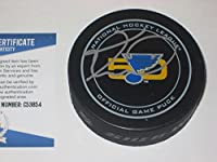 Keith Tkachuk Signed Official Blues 50Th Anniversary Game Puck with - Beckett Certified