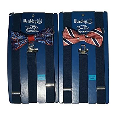 Wembley Classic Bow Tie and Suspenders Set