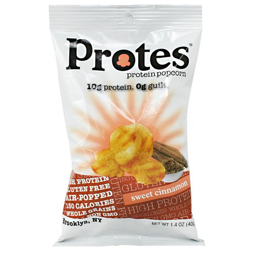 Protes Protein Popcorn | 12 Bags | 10G of Protein & 0 Guilt | Gluten-Free, Air Popped, Whole Grains & NON-GMO (Cinnamon)
