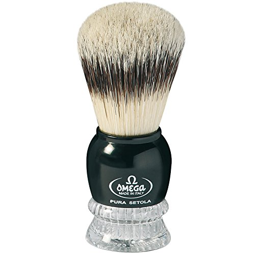 Omega Combination - Omega Shaving Brush Pure Bristles #10275 Two Color Combination