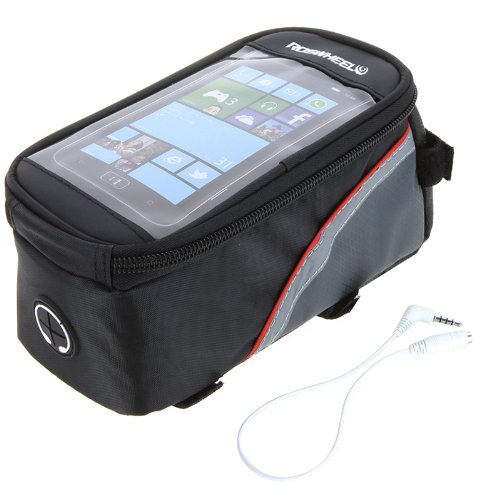 EverTrust(TM) Outdoor Sports Cycling Bicycle bag,Bike Frame Front Tube Bag basket for Cell mobile Phone PVC 4.8
