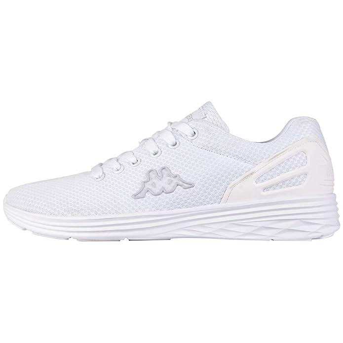 Kappa Follow Sneakers Damen Herren Unisex Weiß (Weiße Sohle)
