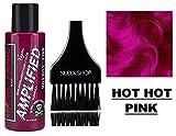 MANIC PANIC AMPLIFIED Formula Semi-Permanent HAIR COLOR Cream N.Y.C. (w/Sleek Tint Brush) Tish & Snooky's VEGAN High Voltage Haircolor Dye 4 oz / 118 ml (Hot Hot Pink)
