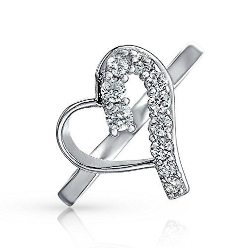 Heart Journey Ring (Bling Jewelry Sterling Silver CZ Love Journey Heart Ring)