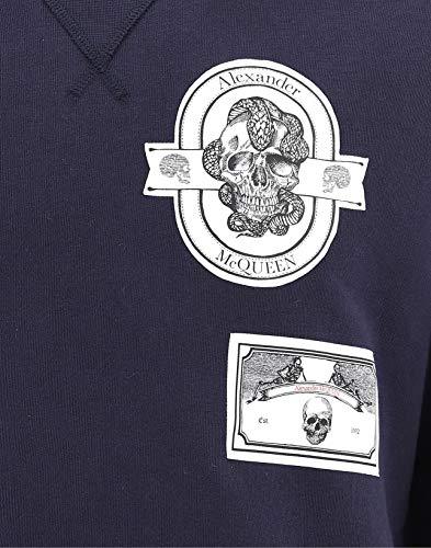 Sweatshirt 559480qmx434100 Femme Mcqueen Coton Bleu Alexander XH6fqwEgn