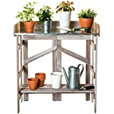VYTAL Folding Potting Bench / Event Table (Gray Wash)