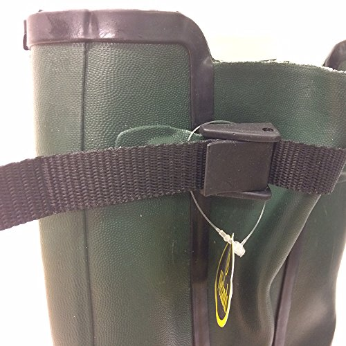 Mens Wetlands Green Wellies with side gusset & strap and buckle Green QAt9W1gl
