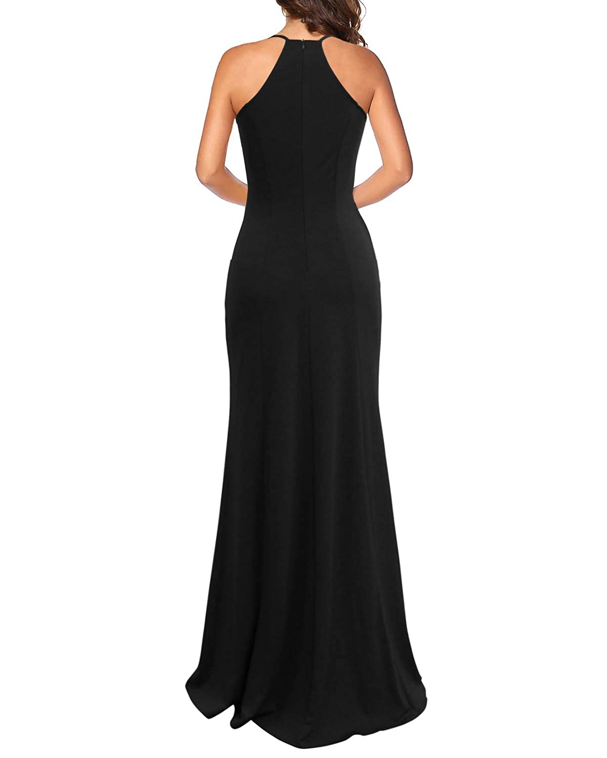 4d716bf1c4af Lyrur Women's Sexy Spaghetti Straps Slit Formal Long Bridesmaid Maxi Party  Evening Dress Mermaid Prom Gown at Amazon Women's Clothing store: