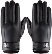 Winter Gloves, Ulstar Windproof Fleece Lining Thermal Driving Gloves Medium Size