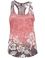 Tough Cookie's Women's Hibiscus Flower Sublimation Print Burnout