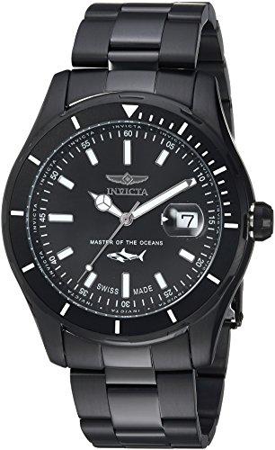 Invicta Men's 'Pro Diver' Quartz Stainless Steel Casual Watch, Color:Black (Model: 25818) ()
