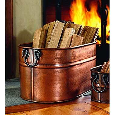 Large Hand-Crafted Copper-Plated Steel Oval Tub