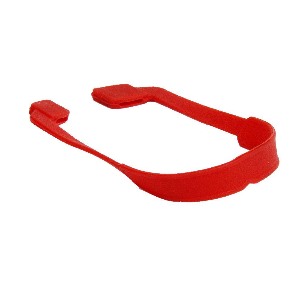 Sharplace Catena in Rilievo Cinghia per Occhiali da Sole Elastici in Silicone per Bambini - Rosso, Taglia unica
