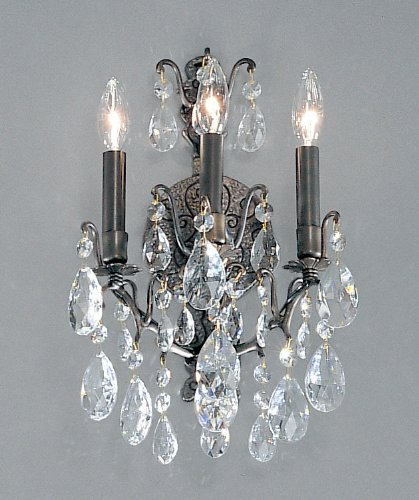 (Classic Lighting 9000 AB SC Versailles, Crystal, Sconce/WallBracket, 5