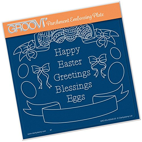 Groovi Embossing A5 Plate ~ Easter Banners, GRO40549 by Groovi
