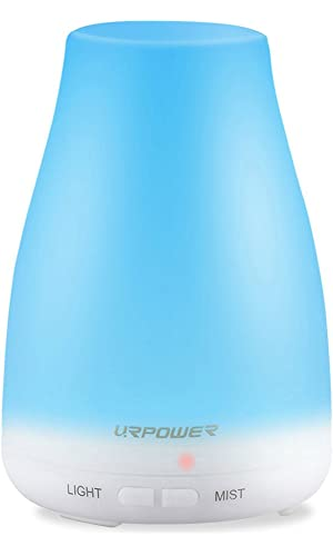 URPOWER 2nd Version Essential Oil Diffuser, 100ml Aroma Essential Oil Cool Mist Humidifier with Adjustable Mist Mode
