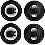 4) New Boss Riot R63 6.5 600W 3 Way Car Audio Coaxial Speakers Stereo 4 Ohm