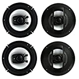 4) New Boss Riot R63 6.5'' 600W 3 Way Car Audio Coaxial Speakers Stereo 4 Ohm