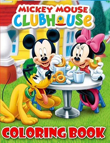 Mickey Mouse Clubhouse Coloring Book: 37 Exclusive Illustrations For Adults and Kids -