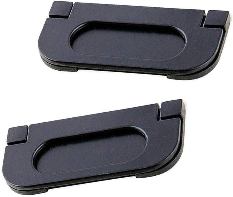 YiYueTrade - Tirador de Puerta empotrable de aleación para Puertas de Bolsillo, Color Negro Inoxidable para Puertas correderas, armarios, cajones, 2 Unidades: Amazon.es: Hogar