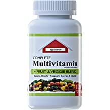 120 Multivitamin Fruit And Vegetable Liquid Capsules, Loaded Multivitamins, Supplements by SJJ Depot, Multiple Vitamin has Joint Heart Brain Antioxidants, Daily Women Men Senior Adult Multi Vitamins