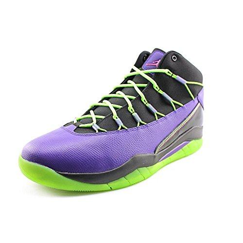 Jordan Prime Flight Mens Size 13 Purple Leather Basketball Shoes