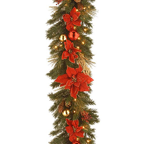 2 PACK 4FT PLAIN PINE CHRISTMAS SWAG GARLAND DECORATION FOR HOME OR VENUE