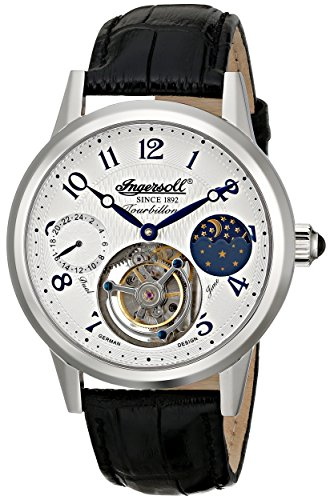 Ingersoll Men's IN5305BK Pierce Tourbillon Stainless Steel Mechanical Hand-Wind Black Watch