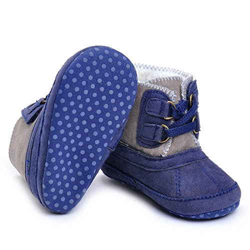 Pictures of Baby Boys' Plush Boots Navy US 1 Navy 4