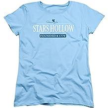 Gilmore Girls Stars Hollow S S Women'S Tee Light Blue
