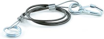 Abreisseil Bremsseil Sicherungsseil 1 Meter f/ür Anh/änger