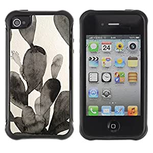 "Hypernova Defender Series TPU protection Cas Case Coque pour Apple iPhone 4 / iPhone 4S [Negro Blanco Pintura de la acuarela""]"
