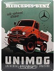 Nostalgic-ArtMercedes-Benz - Unimog - Gift idea for car accessoires fansRetro Tin SignMetal PlaqueVintage design for decoration30 x 40 cm