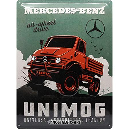 Nostalgic-Art Mercedes-Benz - Unimog Blechsch. 30 x 40 ...